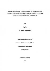 BS, Tsinghua University, Submitted to the Graduate Faculty of. University of Pittsburgh in partial fulfillment