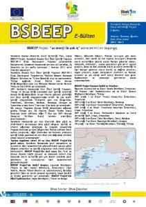 BSBEEP E-Bülten Karadeniz Havzası Binalarda Enerji Verimliliği Projesi