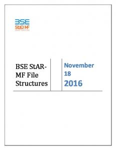 BSE StAR- MF File Structures. November 18
