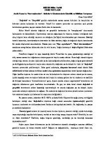 BSS105 Bilim Tarihi DERS NOTLARI