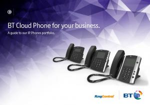 BT Cloud Phone for your business. A guide to our IP Phones portfolio