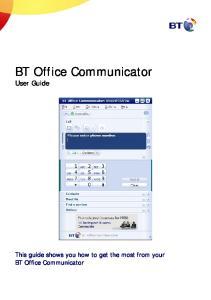 BT Office Communicator User Guide