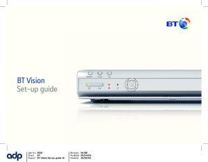 BT Vision Set-up guide