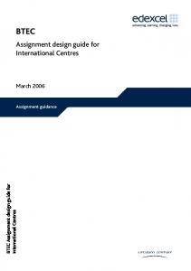 BTEC Assignment design guide for