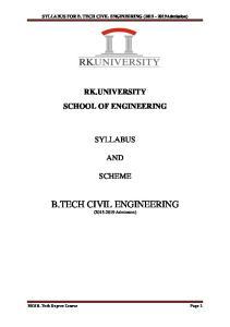B.TECH CIVIL ENGINEERING ( Admission)