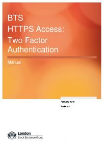 BTS HTTPS Access: Two Factor Authentication