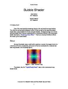Bubble Shader. Bubble Shader. John Isidoro ATI Research. David Gosselin ATI Research