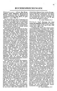 BUCHBESPRECHUNGEN. Fr. Josef Schierse, S. J