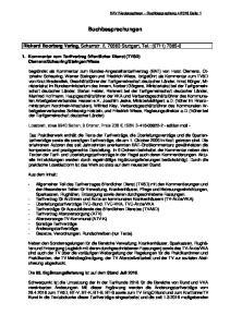 Buchbesprechungen. Richard Boorberg Verlag, Scharrstr. 2, Stuttgart, Tel.: (0711)