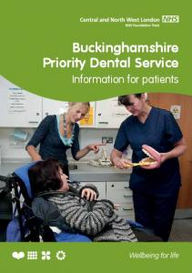 Buckinghamshire Priority Dental Service. Information for patients