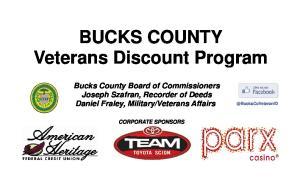 BUCKS COUNTY Veterans Discount Program