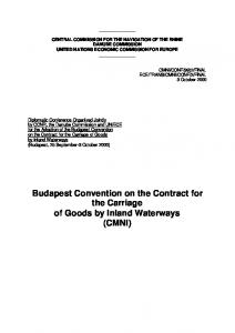 Budapest Convention on the Contract for the Carriage of Goods by Inland Waterways (CMNI)