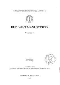 BUDDHIST MANUSCRIPTS