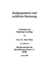 Budgetassistenz und rechtliche Betreuung