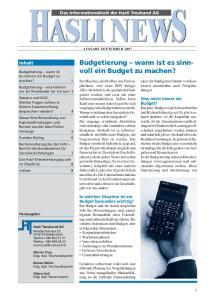 Budgetierung wann ist es sinnvoll ein Budget zu machen?