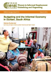Budgeting and the Informal Economy in Durban, South Africa