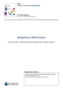 Budgeting in Montenegro
