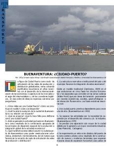 BUENAVENTURA: CIUDAD-PUERTO?