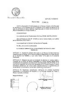 Buenos Aires, Lo establecido por las Resoluciones (CS) Nros , y