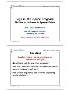 Bugs in the Space Program:
