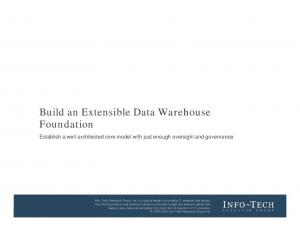Build an Extensible Data Warehouse Foundation