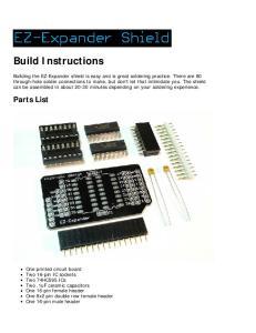 Build Instructions. Parts List