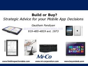 Build or Buy? Strategic Advice for your Mobile App Decisions