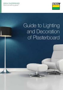 Build something great. Guide to Lighting and Decoration of Plasterboard