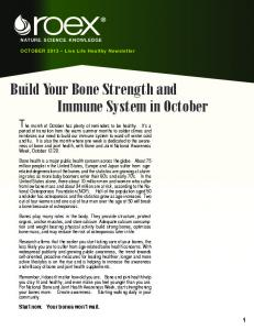 Build Your Bone Strength and Immune System in October