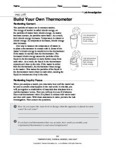 Build Your Own Thermometer