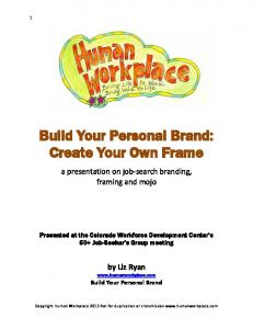 Build Your Personal Brand: Create Your Own Frame