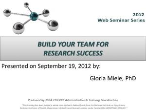 BUILD YOUR TEAM FOR RESEARCH SUCCESS