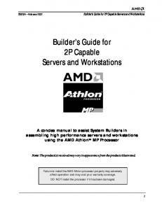Builder s Guide for 2P Capable Servers and Workstations