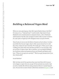 Building a Balanced Vegan Meal