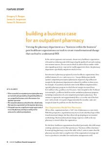 building a business case for an outpatient pharmacy