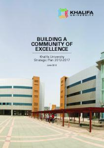 BUILDING A COMMUNITY OF EXCELLENCE