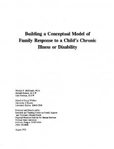 Building a Conceptual Model of Family Response to a Child's Chronic Illness or Disability