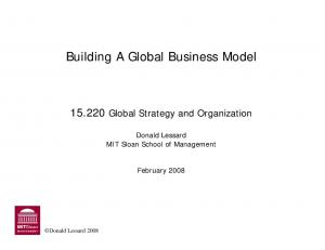 Building A Global Business Model