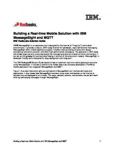 Building a Real-time Mobile Solution with IBM MessageSight and MQTT IBM Redbooks Solution Guide