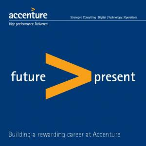 Building a rewarding career at Accenture