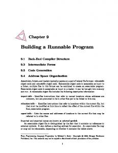 Building a Runnable Program