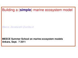 Building a (simple) marine ecosystem model