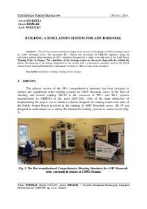 BUILDING A SIMULATION SYSTEM FOR AMV ROSOMAK