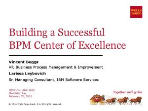 Building a Successful BPM Center of Excellence