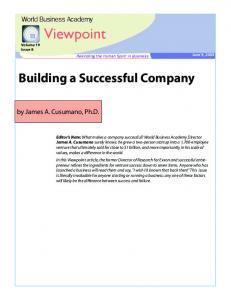 Building a Successful Company