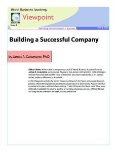 Building a Successful Company