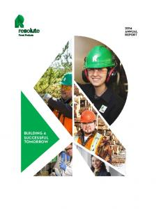 BUILDING A SUCCESSFUL TOMORROW ANNUAL REPORT