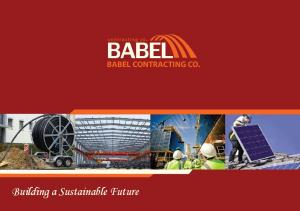 Building a Sustainable Future BABEL CONTRACTING CO