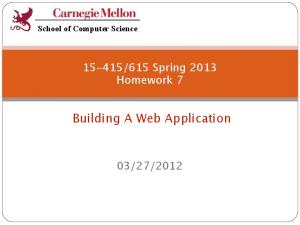 Building A Web Application