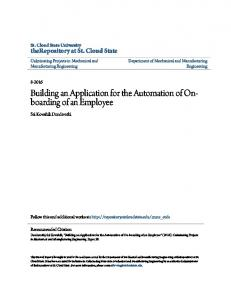 Building an Application for the Automation of Onboarding